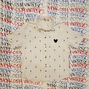 Junk Food x Mickey Mouse Collab Button Shirt XL
